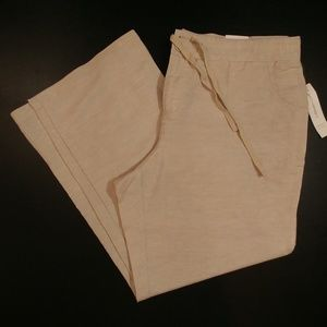 COLDWATER CREEK Women's Natural Fit Linen Pants